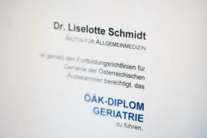 Ordination Dr. Schmidt - Diplom Geriatrie