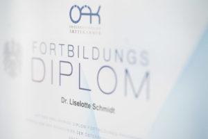 Ordination Dr. Schmidt - Fortbildungsdiplom